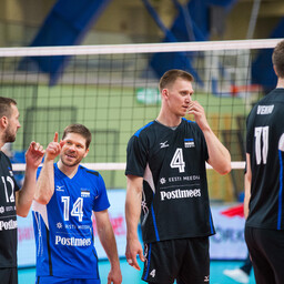 Сборная Эстонии по волейболу начала с победы.