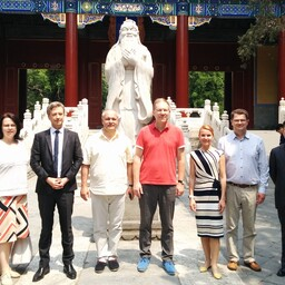 The Foreign Affairs Committee of the Riigikogu visiting China. May 22, 2017.