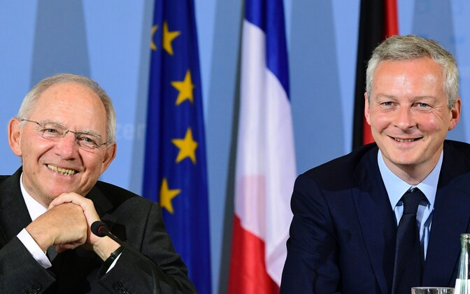 Министр финансов ФРГ Вольфганг Шойбле и министр экономики Франции Бруно Ле Мер.