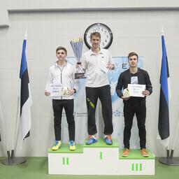Meeste üksikmängu esikolmik Mihkel Laanes, Heiko Zoober ja Andrei Kägo