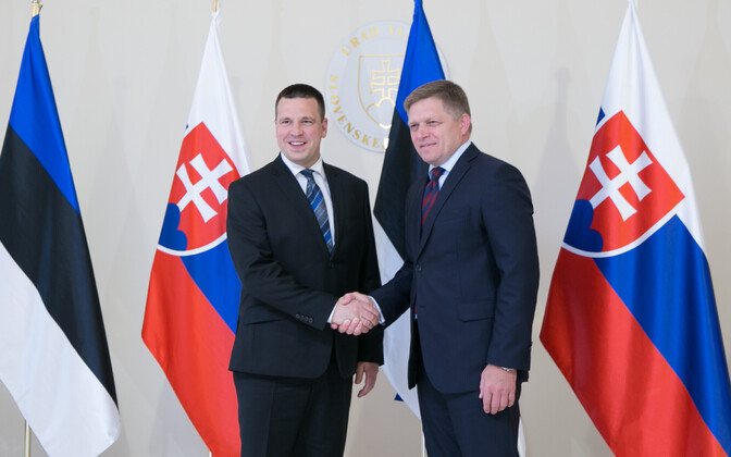 Prime Minister Jüri Ratas with Slovakian Prime Minister Robert Fico. May 22, 2017.