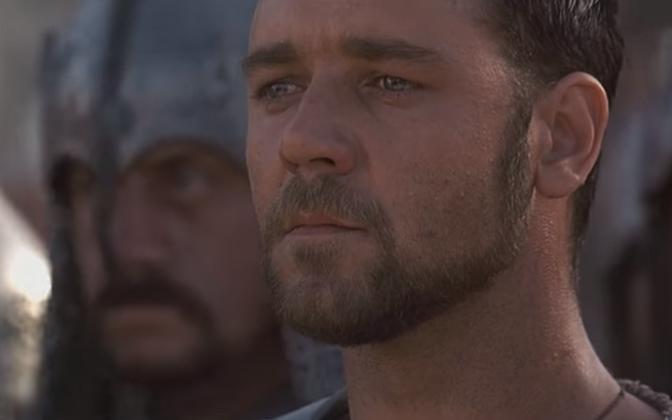 Gladiaator Russell Crowe.