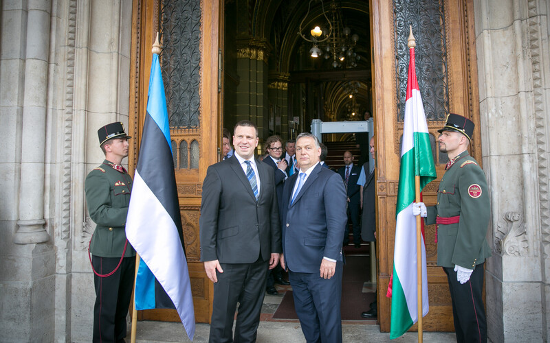 Prime Minister Jüri Ratas with Hungarian Prime Minister Victor Orbán. Monday, May 22, 2017.