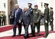 Mahmud Abbas ja Donald Trump Petlemmas.