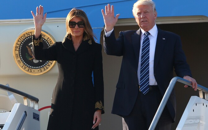 USA president Donald Trump saabus Rooma.