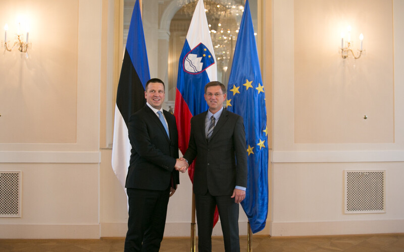 Prime Minister Jüri Ratas with Slovenian Prime Minister Miro Cerar in Ljubljana on Tuesday. May 23, 2017.