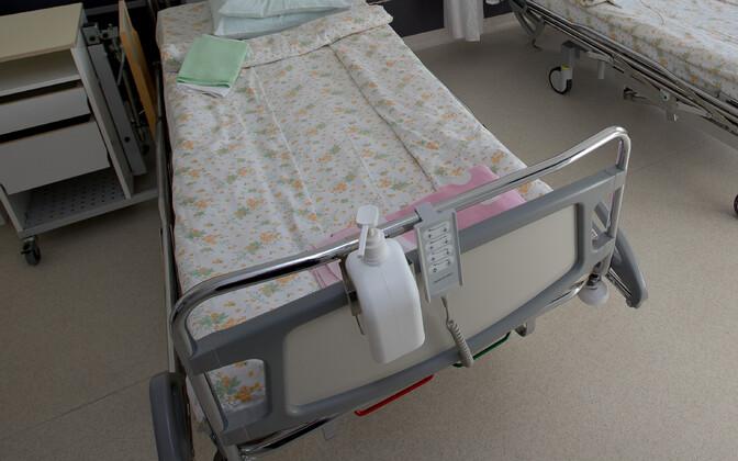 Hospital beds.