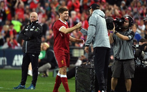 Steven Gerrard ja Jürgen Klopp
