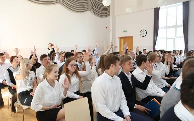 Ученики таллиннской гимназии Паэ.