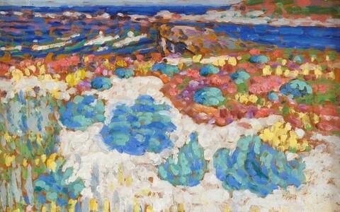 Saaremaa. Etüüd. 1913-1914 õli/papp 38.7 x 48.2 cm Enn Kunila kogus.
