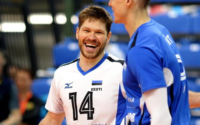 Võrkpalli MM-valikmäng Eesti - Rumeenia / Rait Rikberg