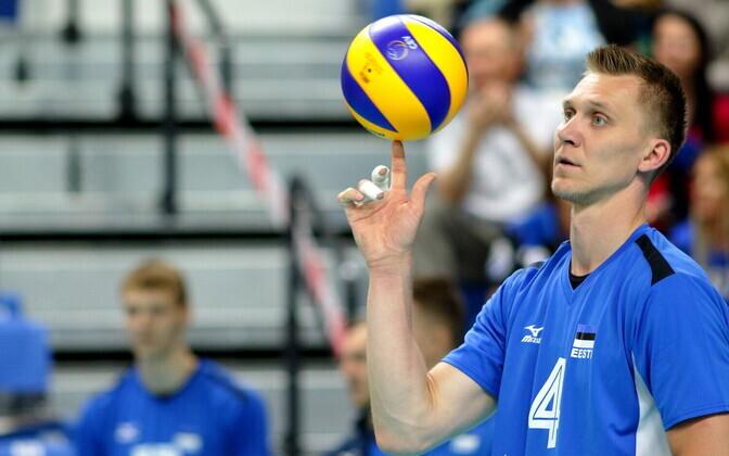 Võrkpalli MM-valikmäng Eesti - Rumeenia / Ardo Kreek