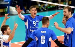 Волейболисты сборной Эстонии.