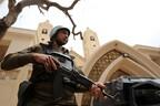 Египетский военный патруль у церкви Танта. Архивная фотография.