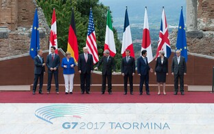 G7 riigijuhid Tuski ja Junckeri vahel.