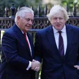 USA välisminister Rex Tillerson ja Suurbritannia välisminister Boris Johnson.