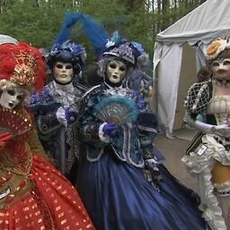 Венецианский карнавал в парке Левенру