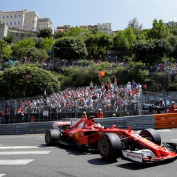 Себастьян Феттель праздновал победу на Гран-при Монако.
