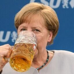 Ангела Меркель на предвыборном митинге в Баварии.