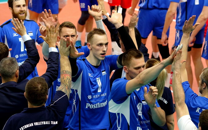 Võrkpalli MM-valikmäng Eesti - Venemaa / Henri Treial
