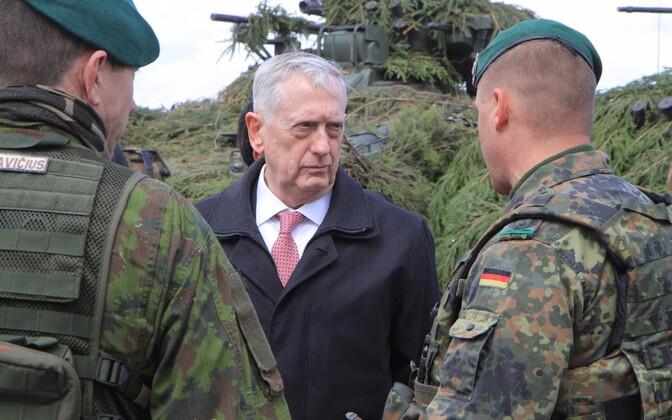 USA kaitseminister James Mattis visiidil Leedus 10. mail.