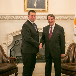 Prime Minister Jüri Ratas with President of Cyprus Nicos Anastasiades in Nicosia on Monday. May 29, 2017.