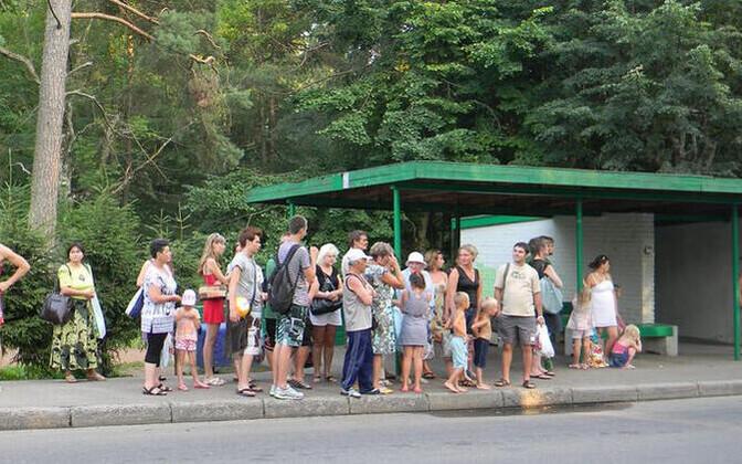 Автобусная остановка в Нарва-Йыэсуу.