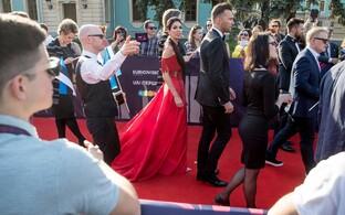 Koit ja Laura Eurovisiooni punasel vaibal