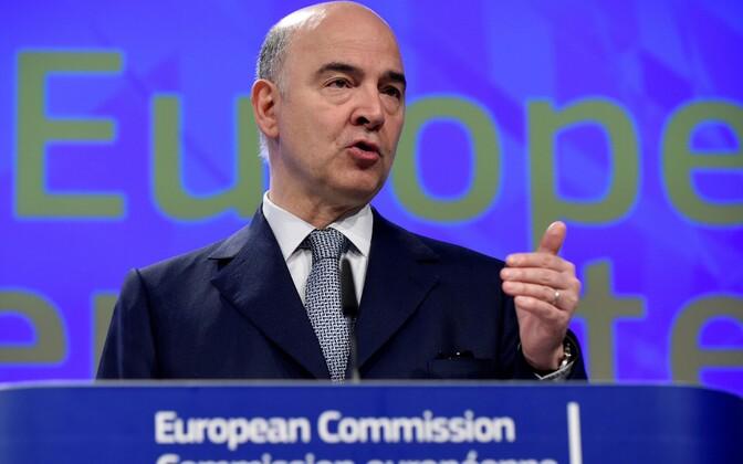 Еврокомиссар по экономическим и финансовым вопросам Пьер Московиси.