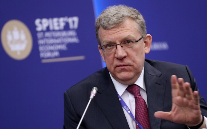 Aleksei Kudrin Peterburi majandusfoorumil.