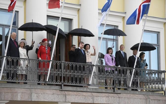 Põhjamaade riigipead saabusid Helsingisse Soome juubeliaastat tähistama