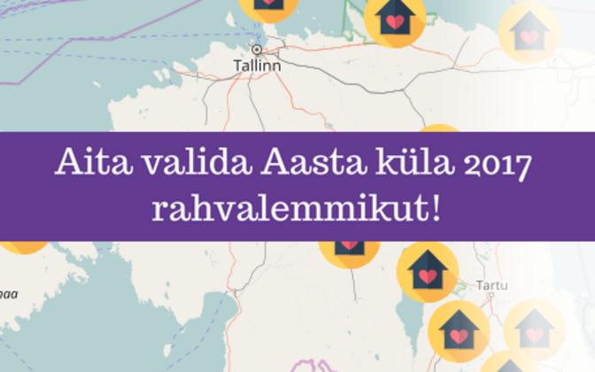 Aasta küla 2017 rahvalemmiku valimine.