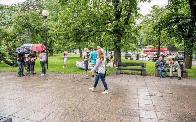 Для парка Таммсааре создано новое архитектурное решение.