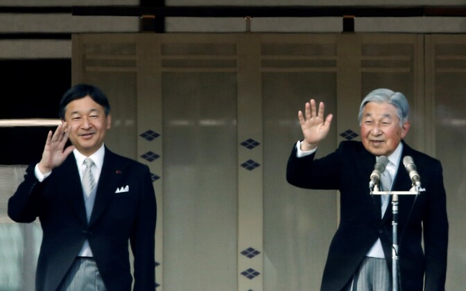 Jaapani keiser Akihito (paremal) ja kroonprints Naruhito.