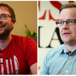 Õhtulehe peatoimetaja Martin Šmutov ja Eesti Ekspressi peatoimetaja Erik Moora.