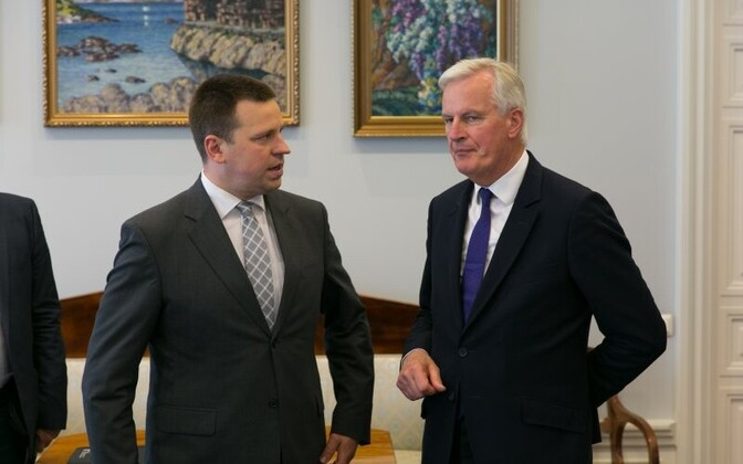 Prime Minister Jüri Ratas with European Chief Negotiator for Brexit Michel Barnier in Tallinn. June 2, 2017.