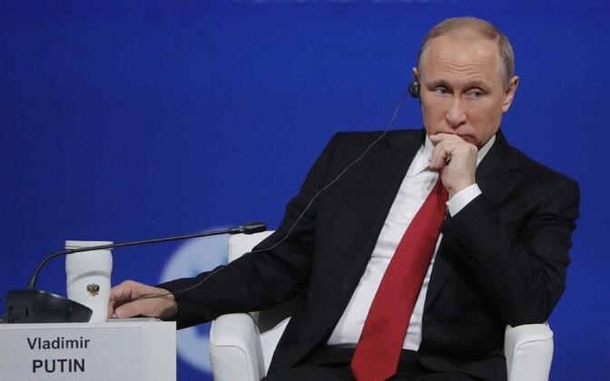 Venemaa president Vladimir Putin Peterburi majandusfoorumil.