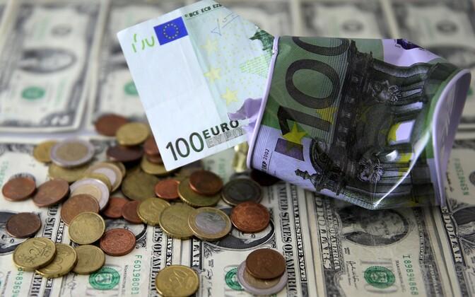 Euros and U.S. dollars.