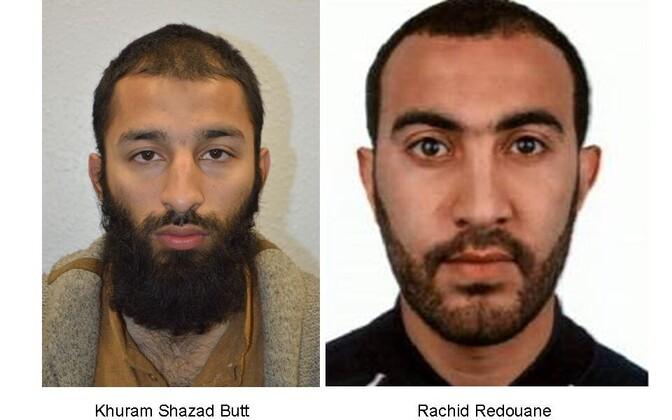Исполнители терактов в Лондоне  Хурам Батт и Рашид Редван