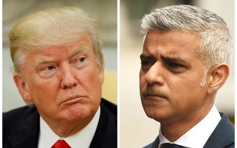 Donald Trump ja Sadiq Khan.