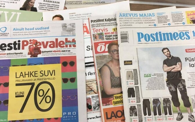 Estonian daily newspapers (picture is illustrative).