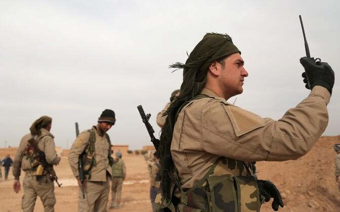 SDF-i võitlejad Raqqa provintsis käesoleva aasta veebruaris.