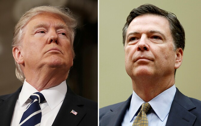 Donald Trump ja James Comey.