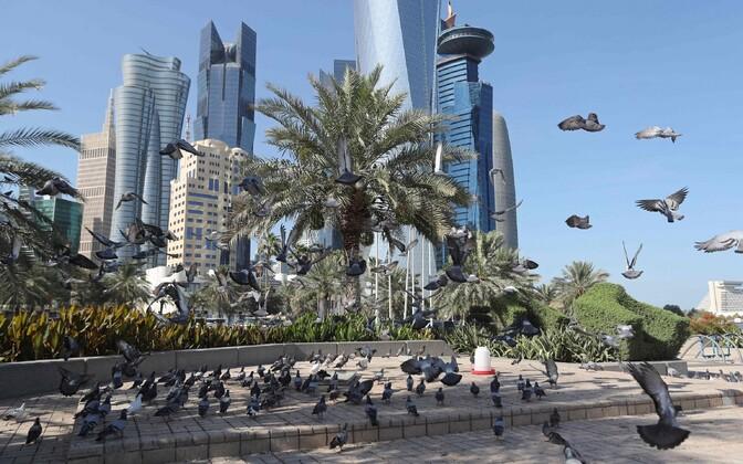 Вид на Доху - столицу Катара.