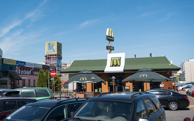 A McDonald's fast food restaurant in the Lasnamäe district of Tallinn.