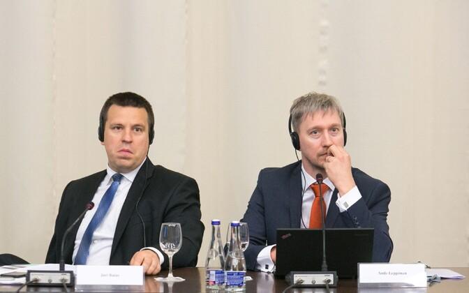 Jüri Ratas ja Ando Leppiman Klaipedas.