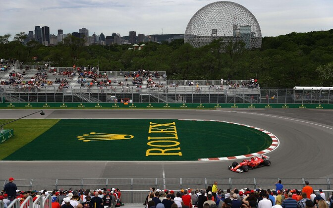 Kimi Räikkönen Montreali ringrajal