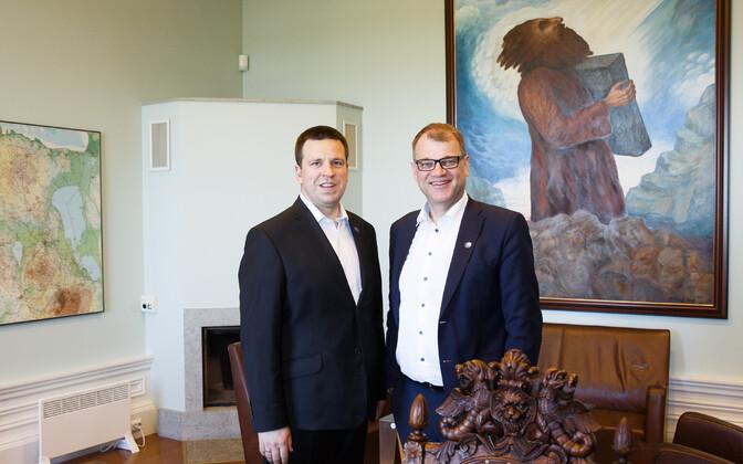 Jüri Ratas and Juha Sipilä.