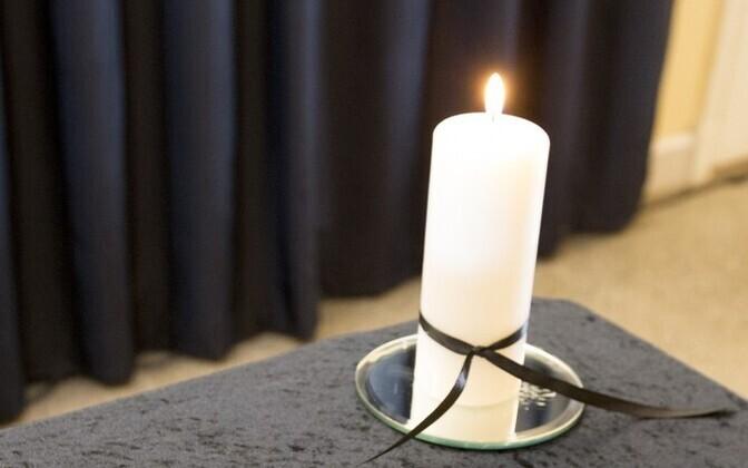 Траурная свеча.