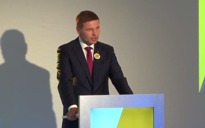 Hanno Pevkur at the Reform Party's congress on June 11, 2017.